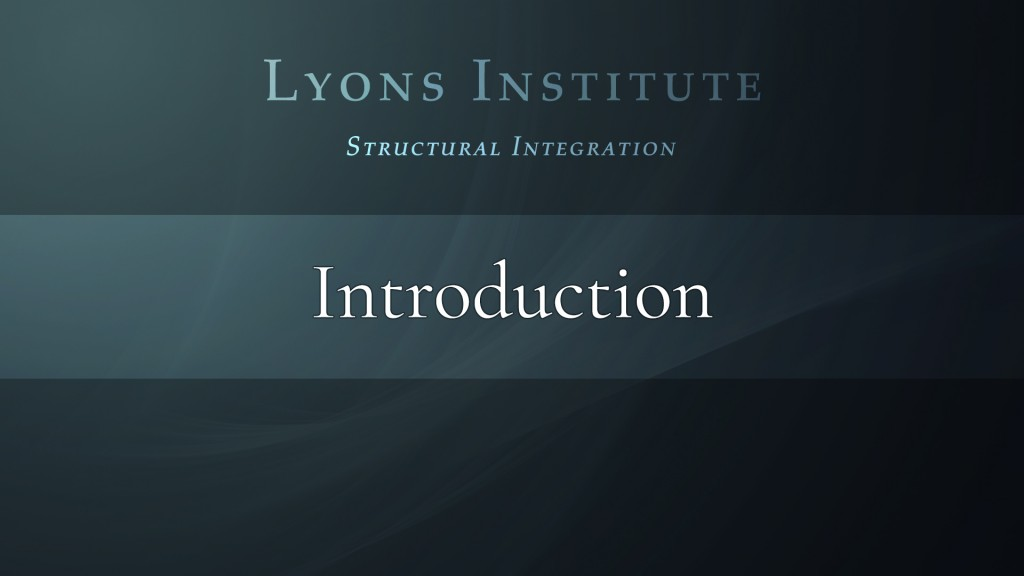 Structural Integration - Intro