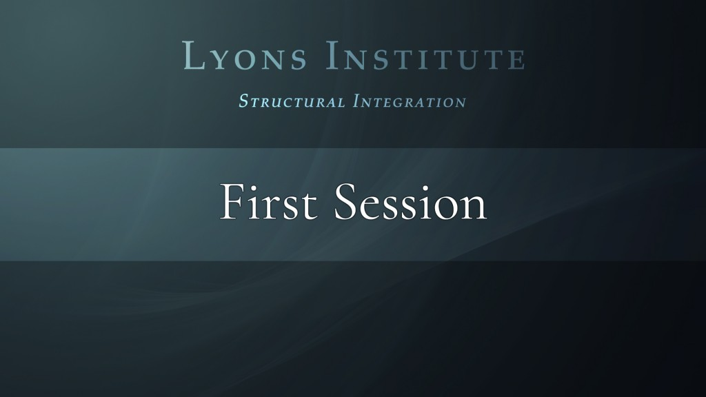 Structural Integration - First Session