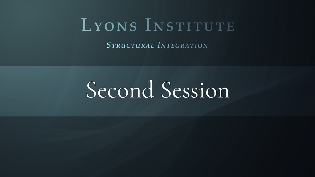 Structural Integration - Second Session