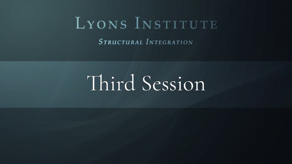 Structural Integration - Third Session